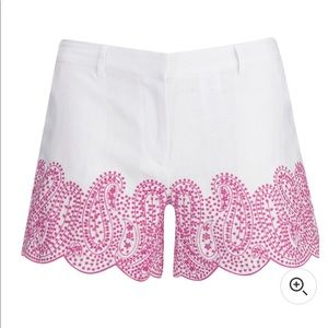MICHAEL MICHAEL KORS Embroidered White Shorts Sz 6